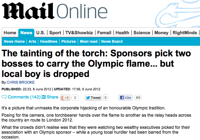 Daily Mail torchbearer story