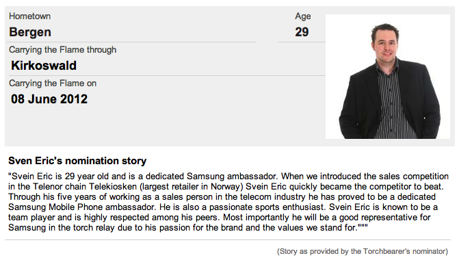 A cache of the original nomination story for Samsung's Sven Eric Durr