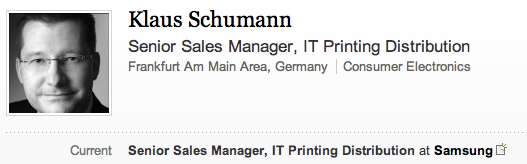 Klaus Schumann is a Senior Sales Manager for Samsung in Germany. He will be carrying the Olympic torch in Bognor