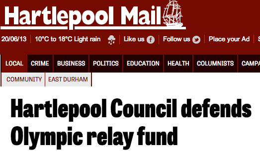 Hartlepool Council defends Olympic relay fund