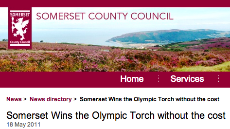Somerset Olympic torch relay announcement