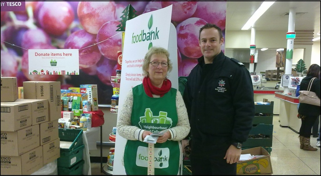 Foodbank donations at Tesco
